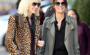 Cate Blanchett and Sandra Bullock film Ocean's Eight
