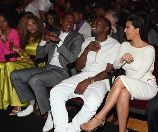 Beyonce, Jay Z, Kanye West and Kim Kardashian