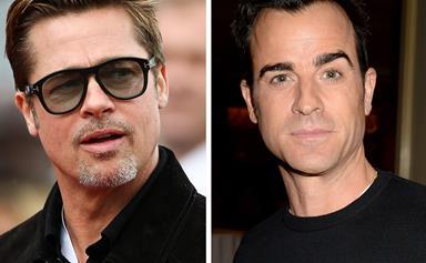 did Justin Theroux just throw major shade at Brad Pitt on social media?