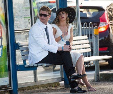 The Bachelor's Richie Strahan and Alex Nation hit the races