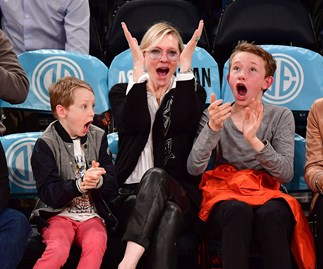 Cate Blanchett's sweet basketball date with her boys Dashiell and Roman