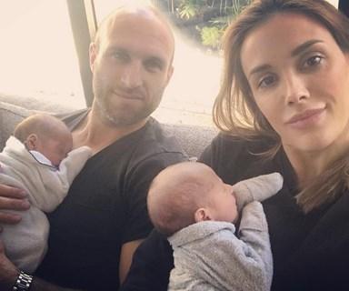Bec Judd admits that Chris can't tell their newborn twins apart