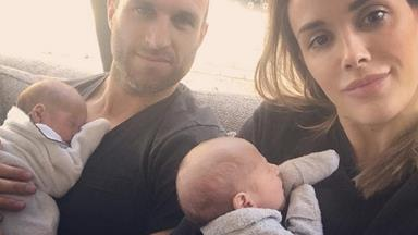 Bec Judd admits that Chris can't tell their newborn twins apart