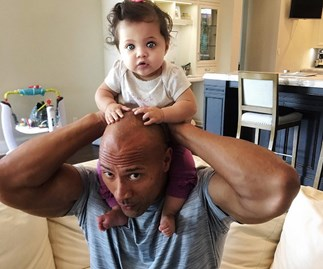 Dwayne Johnson and baby Jasmine