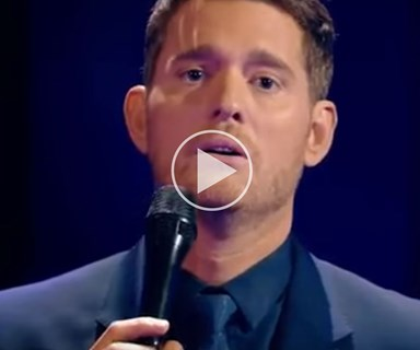 Michael Buble performs heart-breaking song for children's charity
