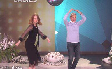 Emma Stone and Ellen DeGeneres have an epic dance-off