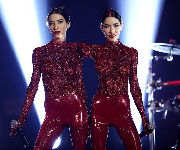 "Who can forget last year when [The Veronicas](https://www.nowtolove.com.au/celebrity/celeb-news/ruby-rose-shades-lisa-origliasso-marriage-equality-42796|target=""_blank"") decided covering themselves in red glitter and latex would be the perfect addition to hosting the event."