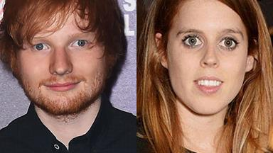 Princess Beatrice 'slices Ed Sheeran's face with sword' in mock-knighting prank gone wrong