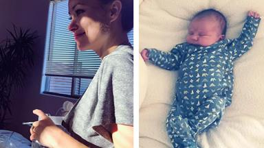 Beautiful breastfeeding celebrity mums