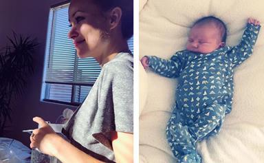 Beautiful breastfeeding celebrity mums