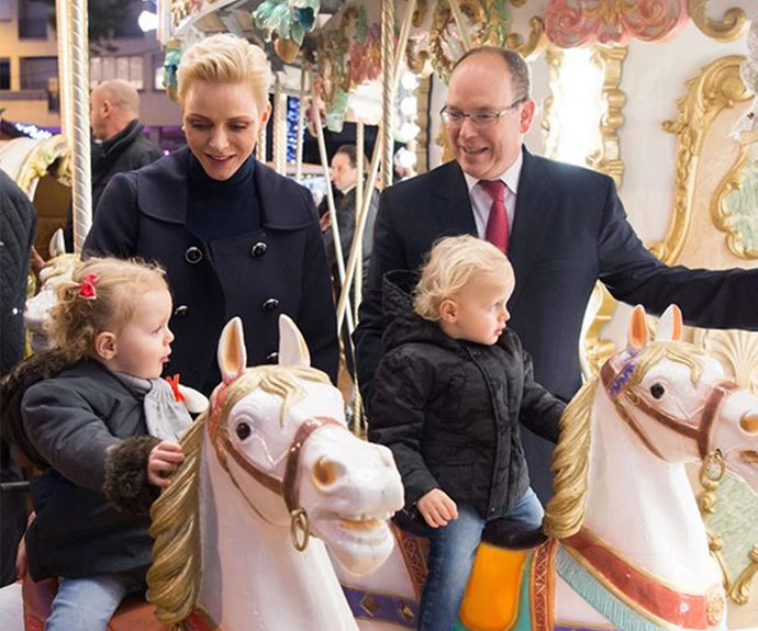 Prince Albert, Princess Charlene, Prince Jacques and Princess Gabriella