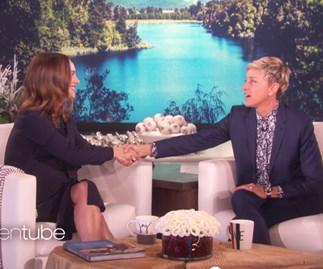 Natalie Portman and Ellen DeGeneres