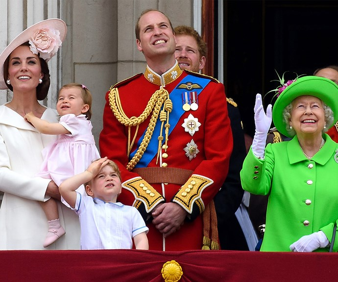 "You really couldn't miss Britain's longest serving sovereign at the 2017 Trooping The Colour ceremony. Sophie, the Countess of Wessex explains why the Queen always wears bright colours ""Don't forget that when she turns up somewhere, the crowds are two, three, four, ten, 15 deep, and someone wants to be able to say they saw a bit of the Queen's hat as she went past."""