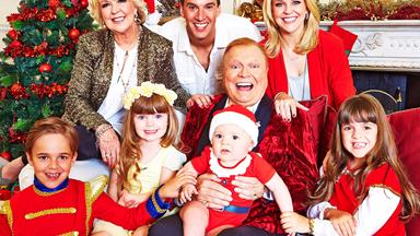 EXCLUSIVE: It's a very Newton Christmas! Festive fun with Bert and Patti