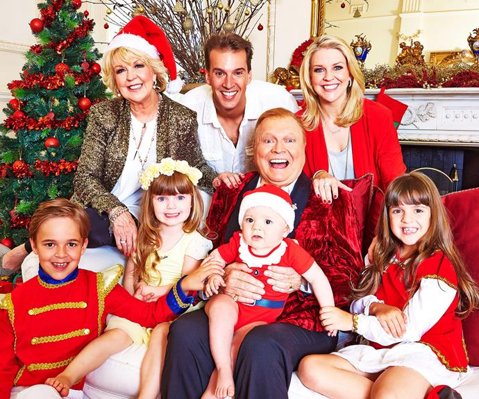 It was a family affair when the Newtons celebrated Christmas for this exclusive *Woman's Day* photo shoot.