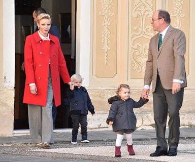 The Monaco twins help spread Christmas joy around the palace