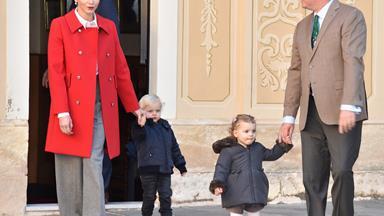 The Monaco twins help spread Christmas joy around the palace