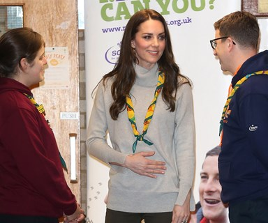 Duchess Catherine helps the Cub Scouts celebrate their birthday