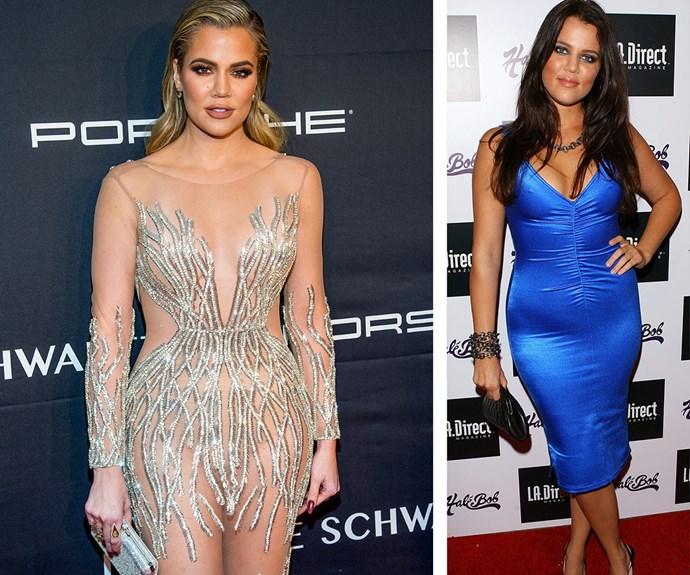 Khloe Kardashian's body transformation