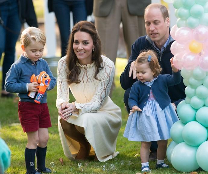 Prince William, Duchess Catherine, Prince George and  Princess Charlotte