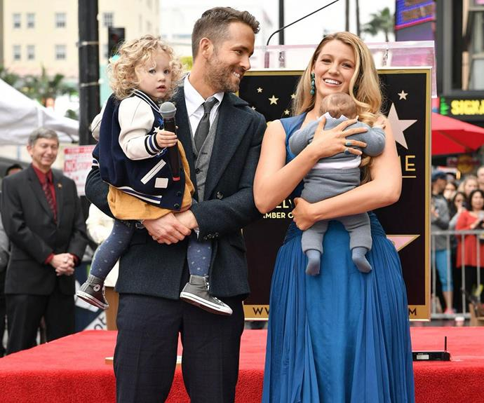 The couple were pictured out with their daughters for the first time as Ryan received a star on the Walk of Fame.