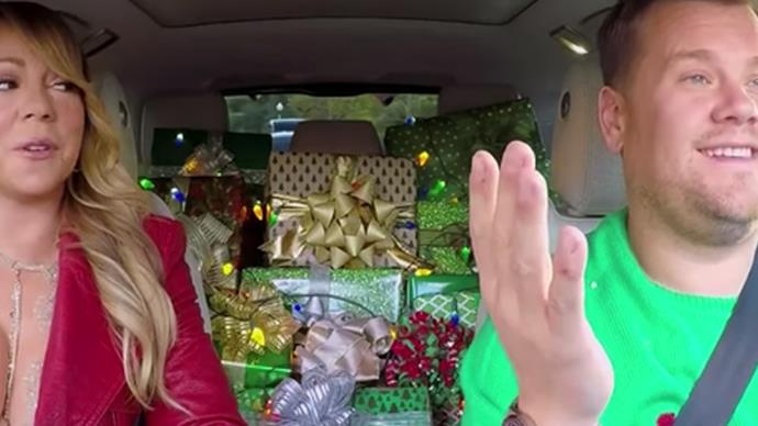 James Corden and Mariah Carey sing All I want for Christmas