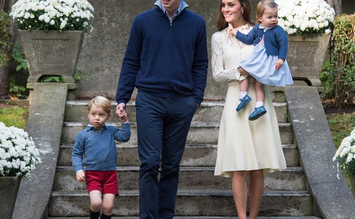 Prince George, Prince William, Duchess Catherine, Princess Charlotte