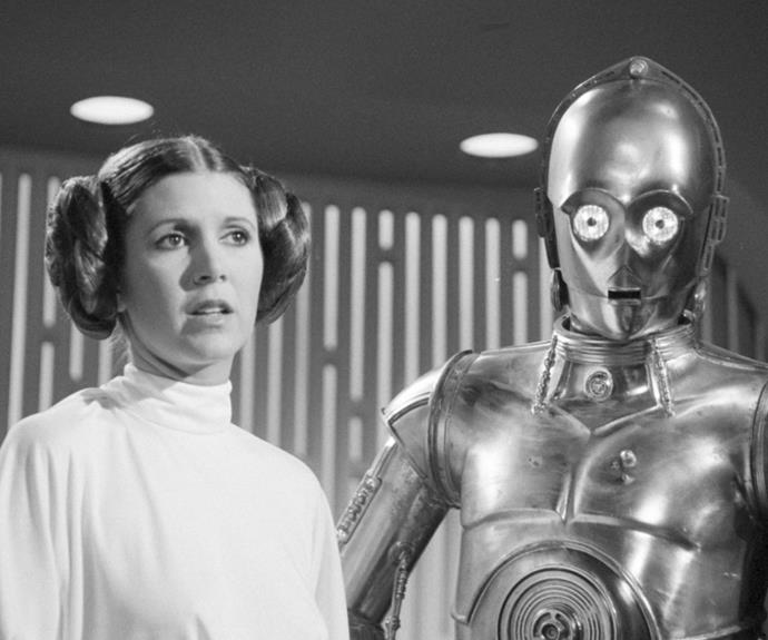Carrie is perhaps most well known for her portrayal of Princess Leia Organa in *Star Wars*.