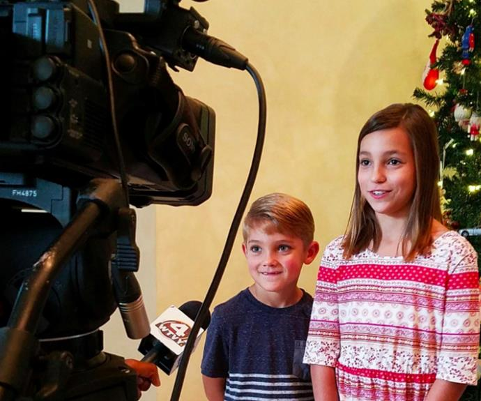 Proud Dad Anthony shared this adorable picture of his kids Ana-Maria and Vinko as they appeared on news program *WTVY* to talk about the incredible experience.