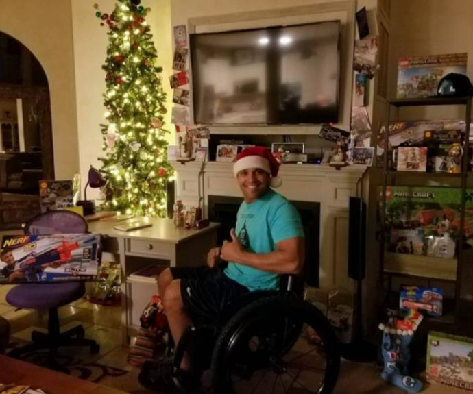 Anthony took three years to come to terms with the fact that he would never walk again but he has since become an inspiration to military men everywhere.