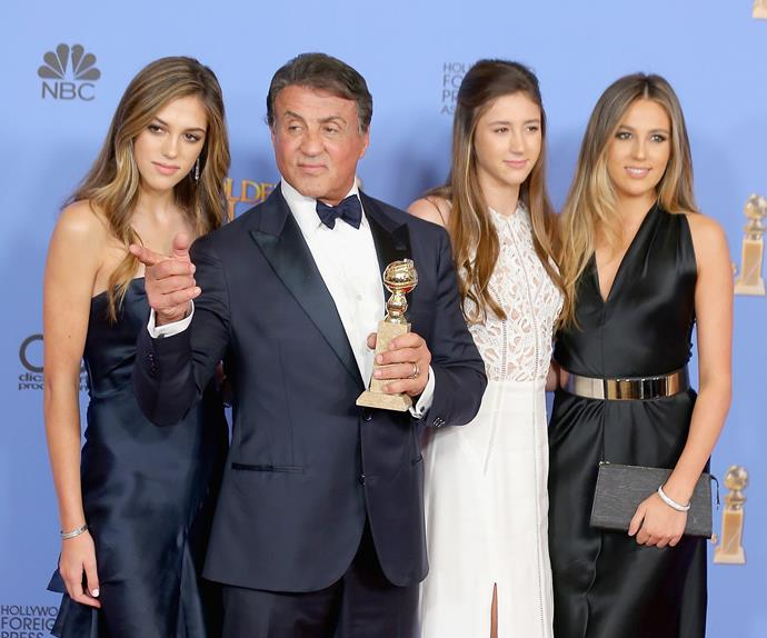 Sylvester Stallone's daughters to become Miss Golden Globes for Sunday night's awards show