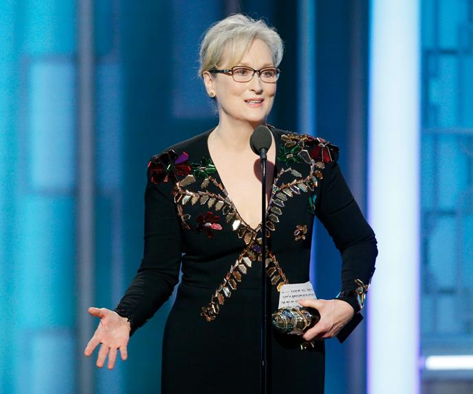 Meryl has been lauded for her actions at the Golden Globes.