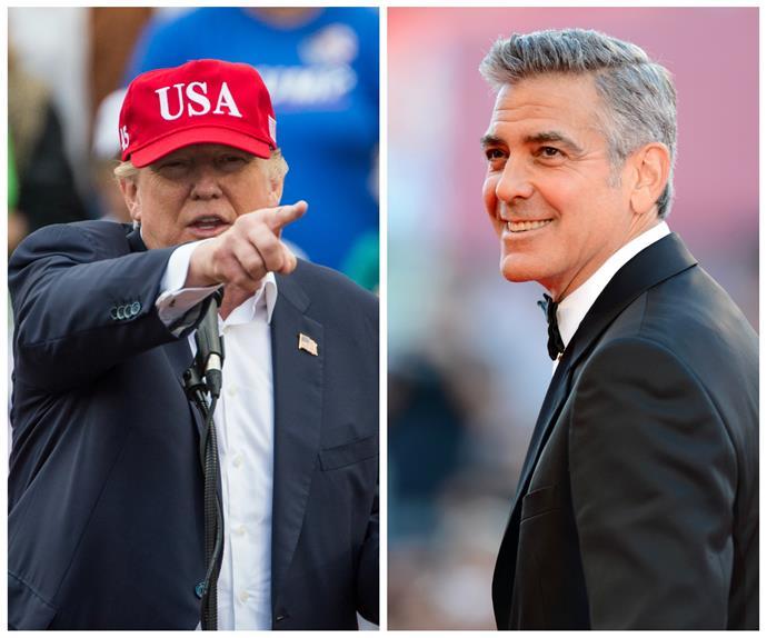 Donald Trump, George Clooney