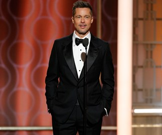Brad Pitt at the Golden Globes