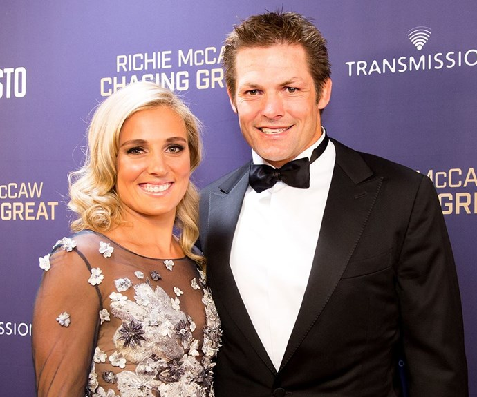 Newly weds Richie McCaw and Gemma Flynn