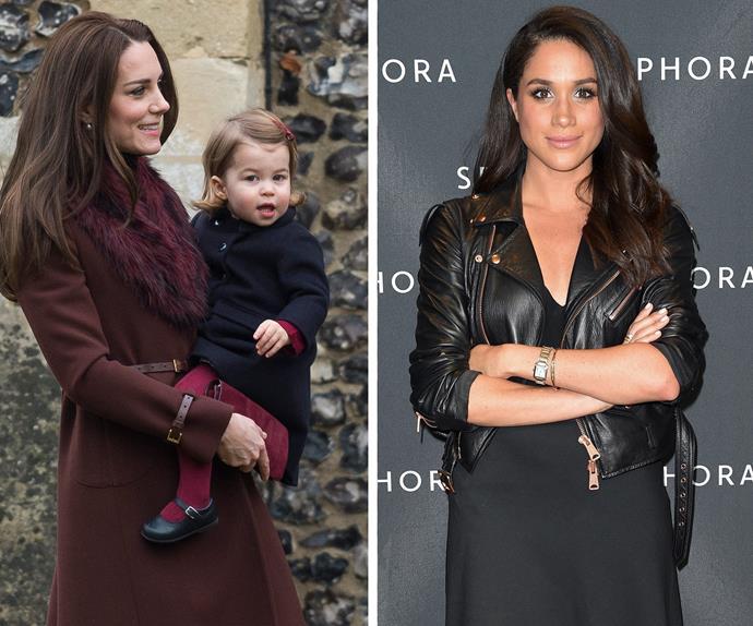 Duchess Catherine, Princess Charlotte, Meghan Markle