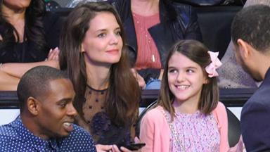 New pics: Katie Holmes and mini-me daughter Suri Cruise enjoy a night out
