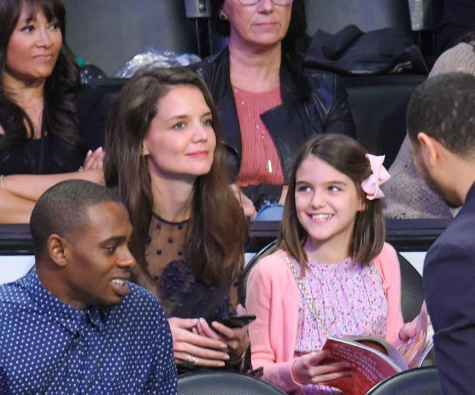 In January, the mother-daughter duo enjoyed watching a basketball game together.