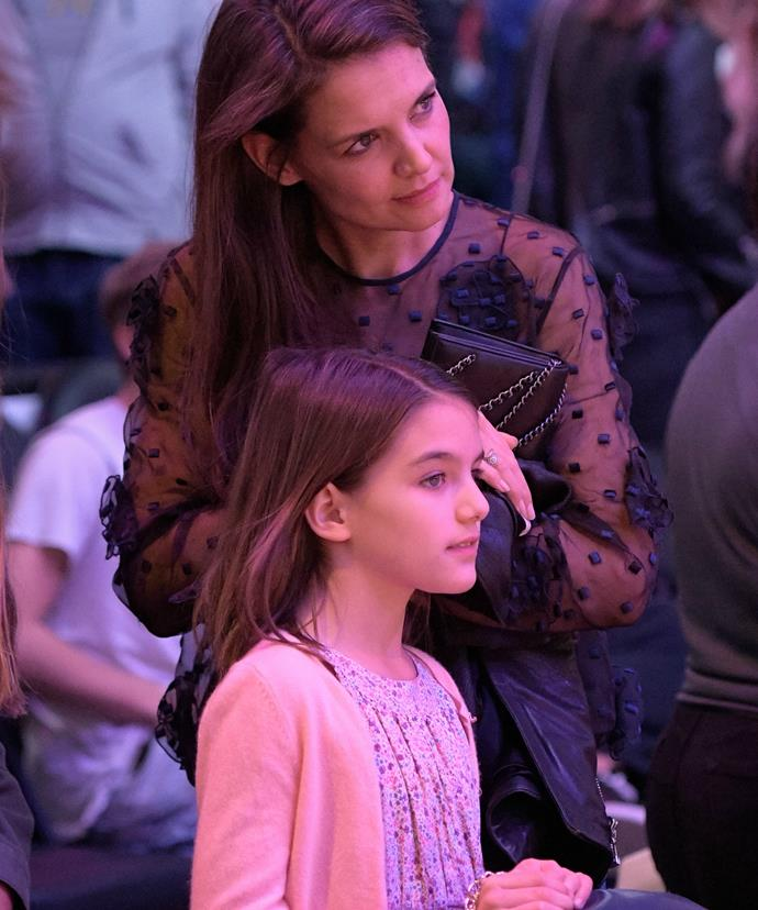 Katie is notoriously strict on keeping Suri out of the spotlight.