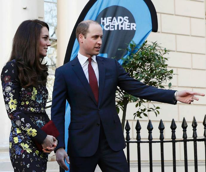The event was a rare joint public engagement for Kate, Wills and Harry.