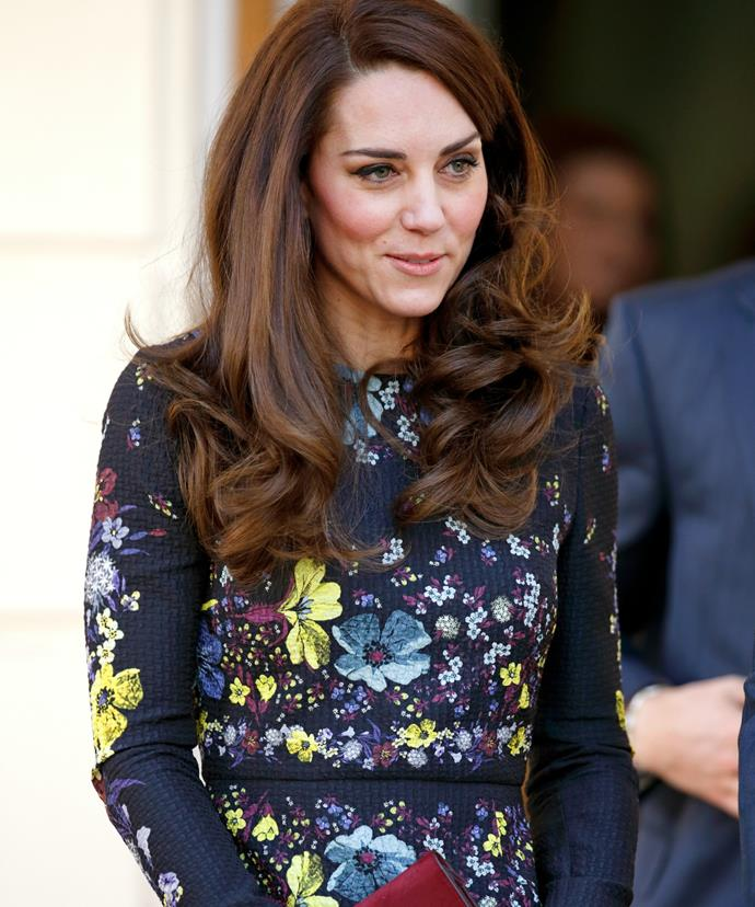 Kate's signature blow-dry looked particularly bouncy for the occasion!