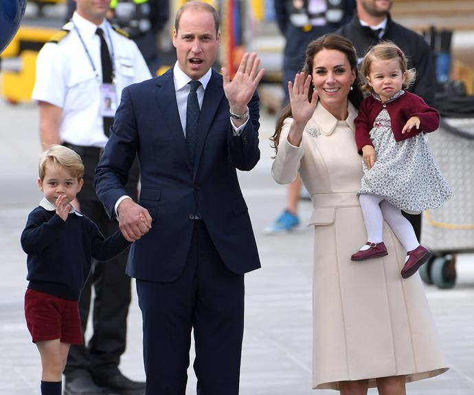 Prince William, Prince George, Princess Charlotte, Duchess Catherine
