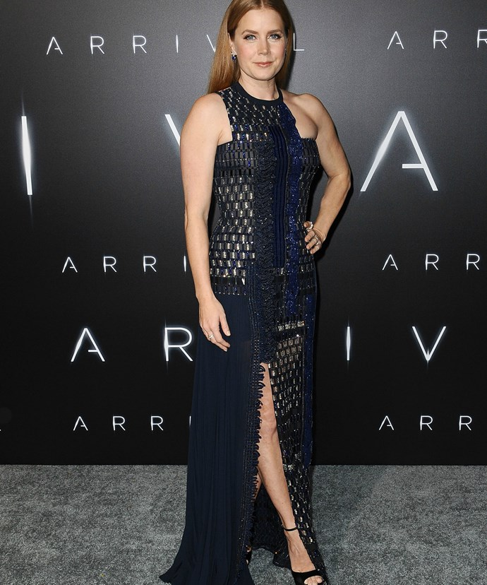 Amy Adams at the world premiere of Arrival.