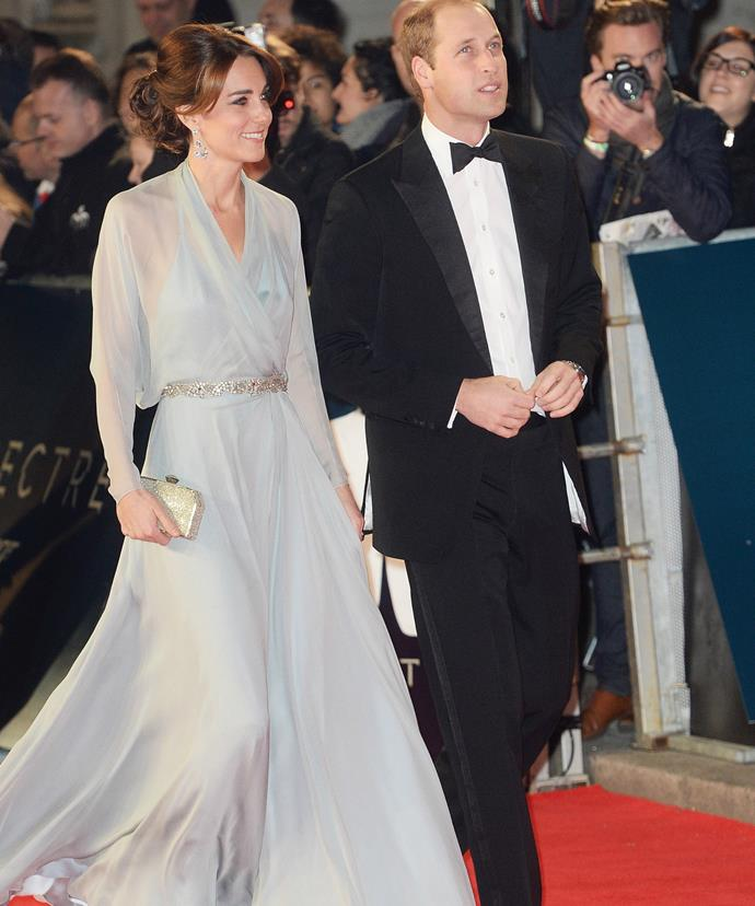 Wills and Kate caused quite the scene when they attended the premiere of James Bond film, *Spectre*.