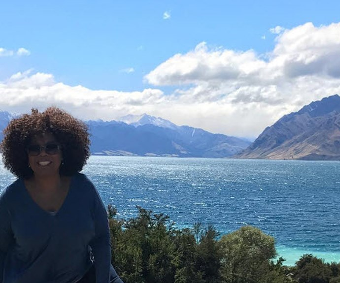 Oprah Winfrey shares picture of New Zealand to Instagram followers