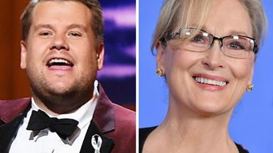 James Corden recalls awkward first meeting with Meryl Streep