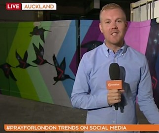 Weather presenter Matt McLean accidentally swears on live television.