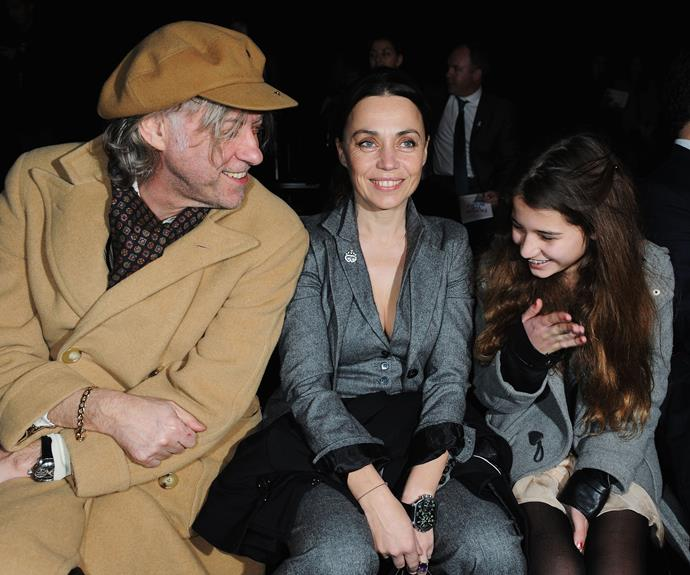 Bob Geldof, Jeanne Marine and Tiger Lily. Photo: FFR/Getty Images