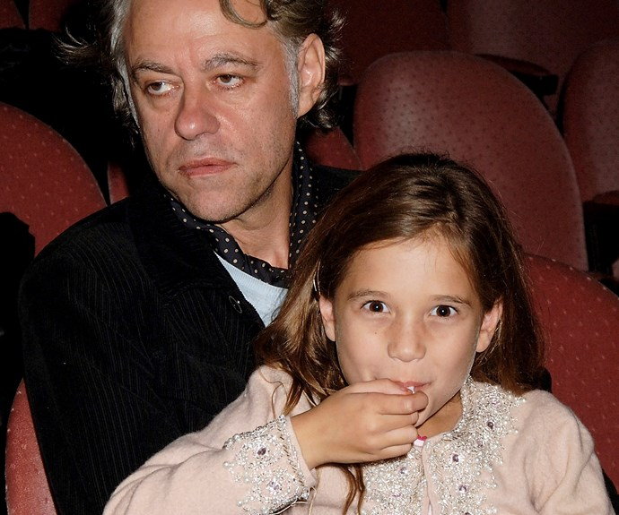 Bob Geldof with his adopted daughter in 2005. Photo: Getty Images