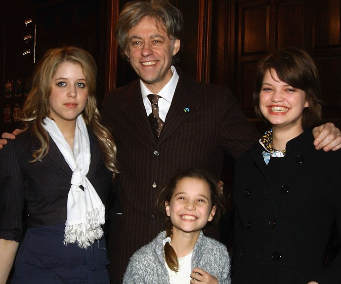 The Geldof family in Dublin in 2006 as he receives the 'freedom of the city' honour. Photo: Getty Images